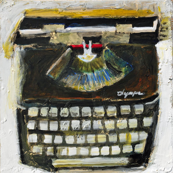 Wreckless Eric typewriter painting
