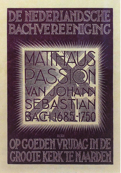 "M.C. Escher, ""St. Matthew Passion"", 1938, woodcut in purple ink, limited-edition, catalogue raisonné: Bool no. 302, print for sale by Atlanta art gallery Different Trains"