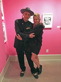 Kosmo Vinyl and Jennifer Houlton-Vinyl at the Cisco Kid vs Donald Trump opening reception at Different Trains Gallery, Atlanta, January 2018