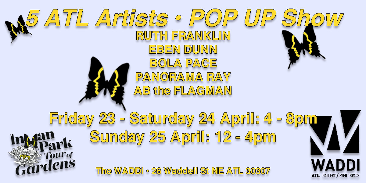 5 ATL Artists Pop Up Show at The Waddi art gallery