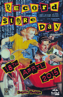 Kosmo Vinyl Record Store Day 2015 art poster RSD2015