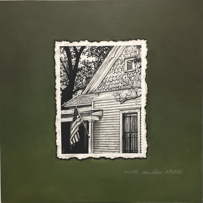 "Mark Sandlin, ""North Candler Street"", acrylic on birch panel, decaturscapes, atlanta art gallery"
